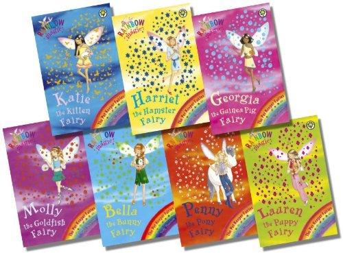 9789999259057: Rainbow Magic Pet Keeper Fairies Collection - 7 Books RRP £34.93 (29: Katie the Kitten Fairy; 30: Bella the Bunny Fairy; 31: Georgina the Guinea Pig Fairy; 32: Lauren the Puppy Fairy; 33: Harriet the Hamster Fairy; 34: Molly the Goldfish Fairy; 35: Pen
