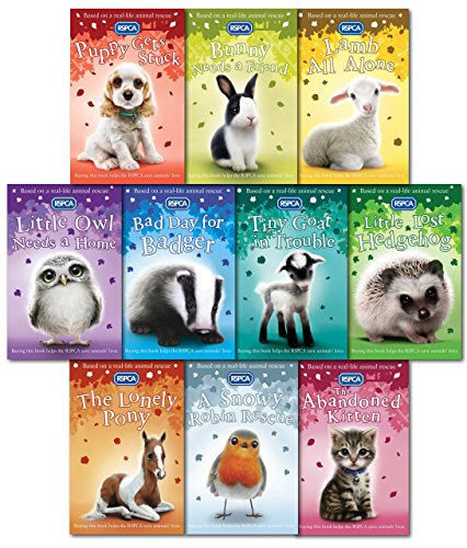 RSPCA Animal Rescue Pets 10 Children's Books: Various