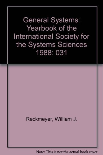 9789999914451: General Systems: Yearbook of the International Society for the Systems Sciences 1988: 031
