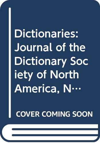 9789999981903: Dictionaries: Journal of the Dictionary Society of North America, No 16