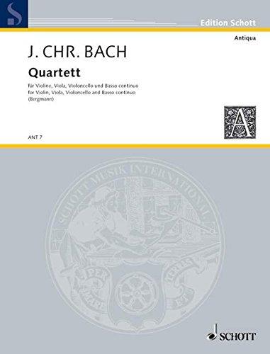 Quartett : für Klavier undStreichtrio, Stimmen: Johann Christian Bach