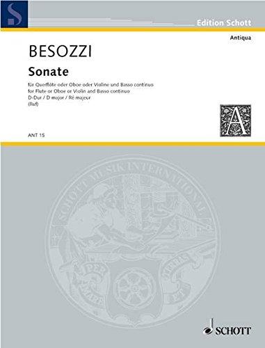 Sonate D-Dur : für Oboe (Flöte,Violine) und Bc: Alessandro Besozzi