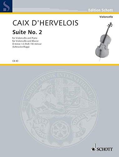 Suite d-Moll Nr.2 : fürVioloncello und Klavier: Louis de Caix d'Hervelois