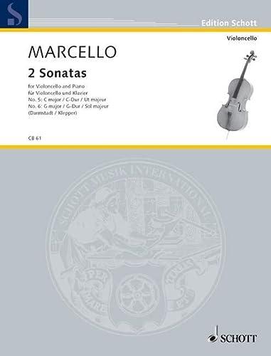 2 Sonaten : für Violoncello und Klavier: Benedetto Marcello