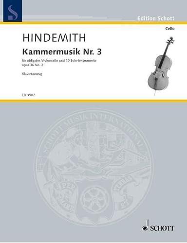 Kammermusik Nr. 3: Violoncello-Konzert. op. 36/2. Solo-Violoncello,: Paul Hindemith