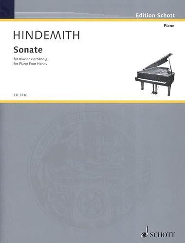 SONATE : FUER KLAVIER 4HAENDIG (1938): Paul Hindemith