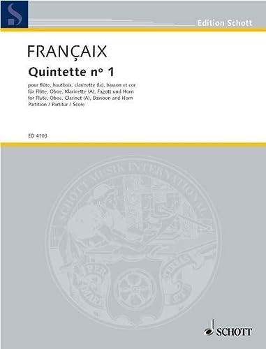 Quintett : für Flöte, Oboe,Klarinette, Fagott und Horn: Jean Francaix