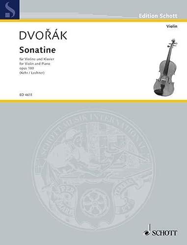 Sonatine G-Dur op.100 : fürVioline und Klavier: Antonin Dvorak