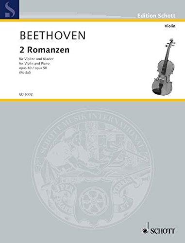 Romanzen op.40 und op.50 :für Violine und Klavier: Ludwig van Beethoven