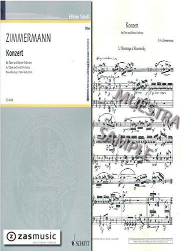 Konzert für Oboe und kleinesOrchester : für Oboe und Klavier: Bernd Alois Zimmermann
