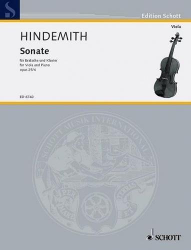 Sonate op.25,4 : für Viola und Klavier: Paul Hindemith