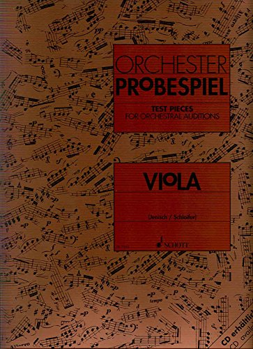 9790001081405: Test Pieces for Orchestral Auditions Viola Alto