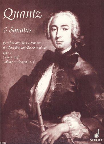 6 Sonaten op.1 Band 1 : fürFlöte und Klavier: Johann Joachim Quantz