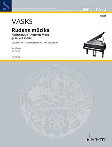 Rudens muzika : für Klavier: Peteris Vasks