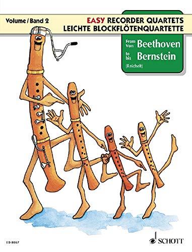 Leichte Blockflötenquartette Band 2 :Spielpartitur