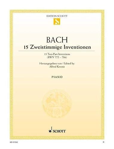 15 Zweistimmige Inventionen: BWV 772-786. Klavier. (Edition