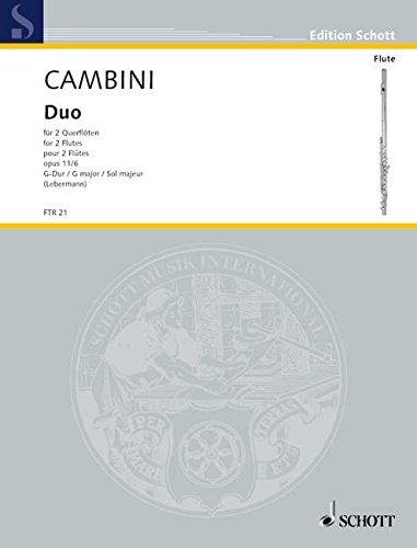 Duo G-Dur op.11,6 : für 2 FlötenStimmen: Giuseppe Maria Gioaccino Cambini