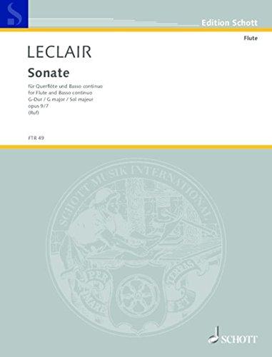 Sonata In G Fl/Pf: Leclair J-M