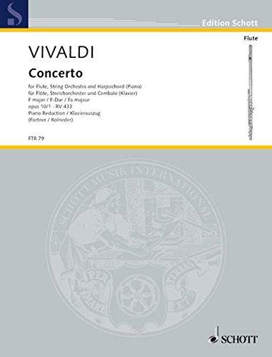 Concerto F-Dur op.10,1für Flöte und Streicher :: Antonio Vivaldi