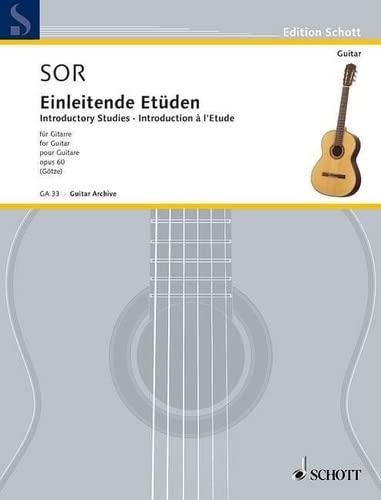 Einleitende Etüden op.60 :für Gitarre: Fernando Sor