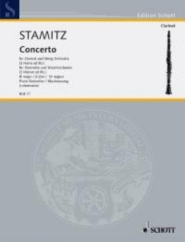 Konzert B-Dur für Klarinette undOrchester : für Klarinette und Klavier: Johann Wenzel ...