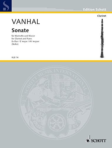 Sonate Es-Dur : fürKlarinette und Klavier: Johann Baptist (Krtitel) Vanhal