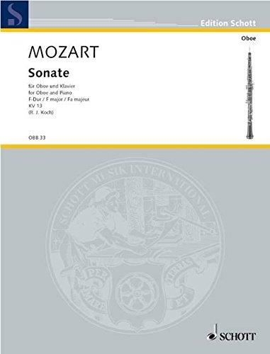 Sonate F-Dur: KV 13. Oboe und Klavier.: Rolf Julius Koch