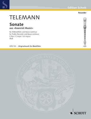 Sonate C-Dur : für Altblockflöteund Bc: Georg Philipp Telemann