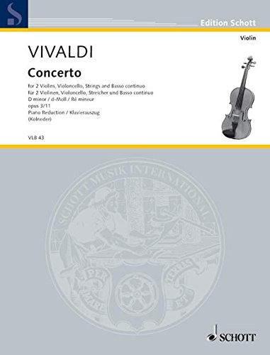 Concerto grosso d-Moll op.3,11Klavierauszug: Antonio Vivaldi