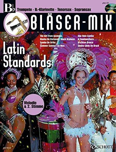 Bläser-Mix Latin Standards, B-Instrumente (Trompete, B-Klarinette, Tenor-Saxophon, ...