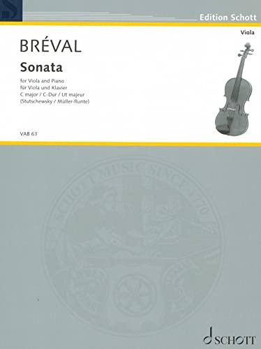 Sonate C-Dur :für Viola und Klavier: Jean Baptiste Br�val