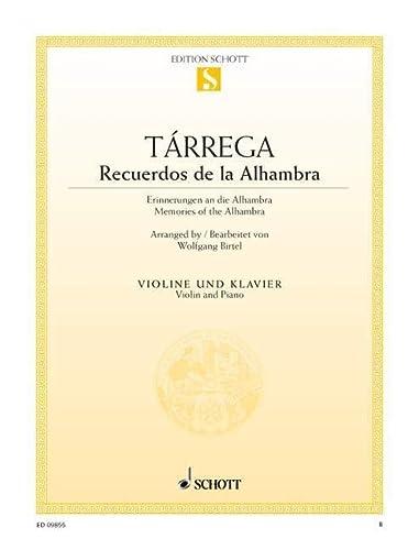 Tarrega, Recuerdos de la Alhambra: Violin: B. Birtel