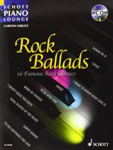 Rock Ballads Band 1 (+CD) : für Klavier(mit Texten und Akkorden)