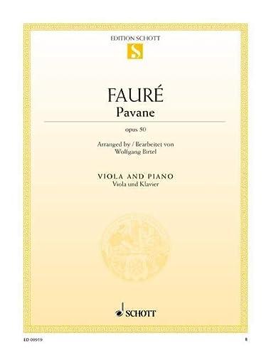 Pavane op. 50. Viola und Klavier: Einzelausgabe