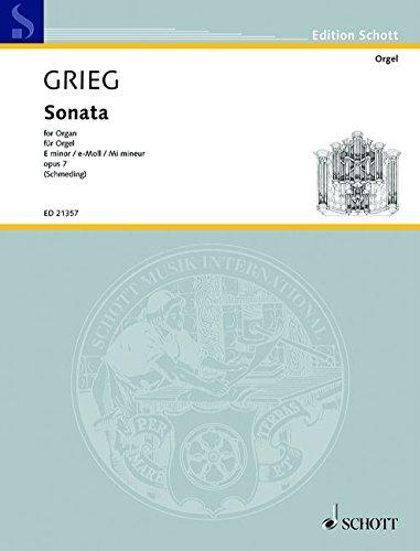 Sonate e-Moll op.9 : für Orgel: Edvard Grieg