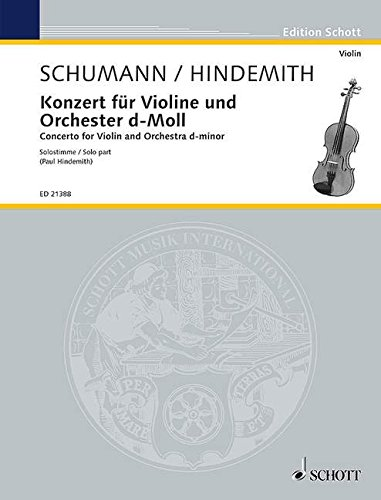 Konzert d-Moll : für Violine und OrchesterViolone solo: Robert Schumann