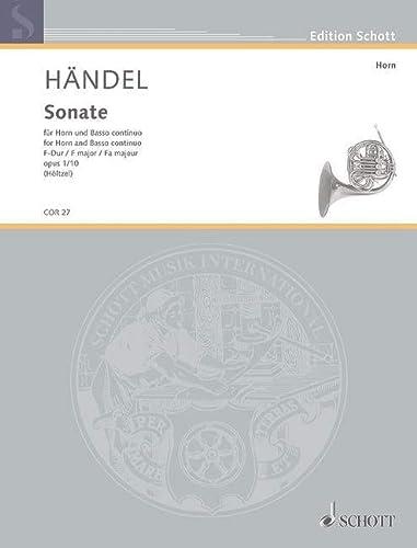 Sonate F-Dur op.1,10 :für Horn und Bc: Georg Friedrich H�ndel