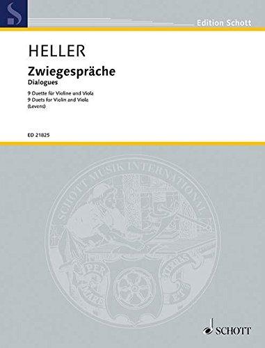 Zwiegespräche :für 2 Violine und Viola: Barbara (\*1936) Heller