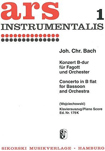 Konzert B-Dur : für Fagott und OrchesterKlavierauszug: Johann Christian Bach