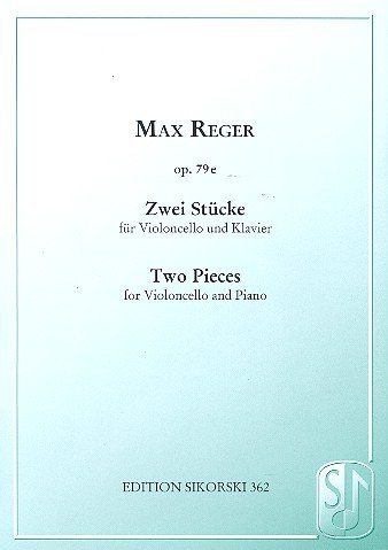 2 Stücke op.79e : fürVioloncello und Klavier: Max Reger