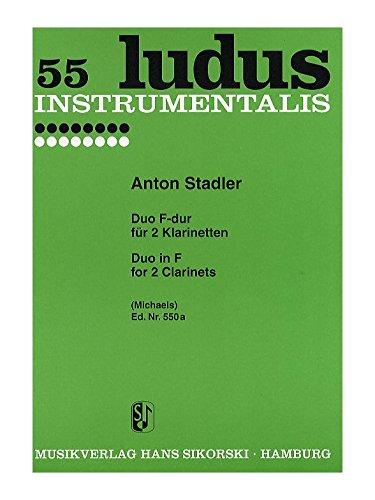 Duo F-Dur : für 2 KlarinettenSpielpartitur: Anton Stadler