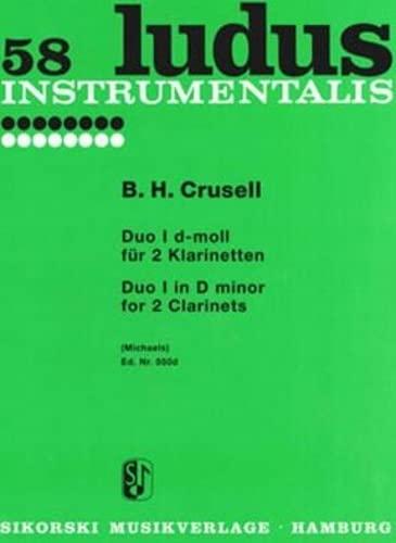 Duo d-Moll Nr.1 : für2 Klarinetten, Spielpartitur: Bernhard Henrik Crusell