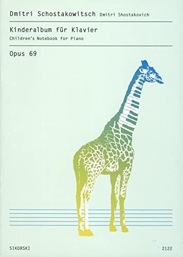 6 Kinderstücke op.69 : für Klavier: Dimitri Schostakowitsch