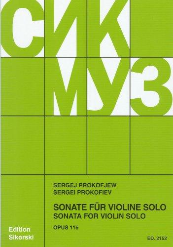 Sonate op.115 : für Violine solo: Serge Prokofieff