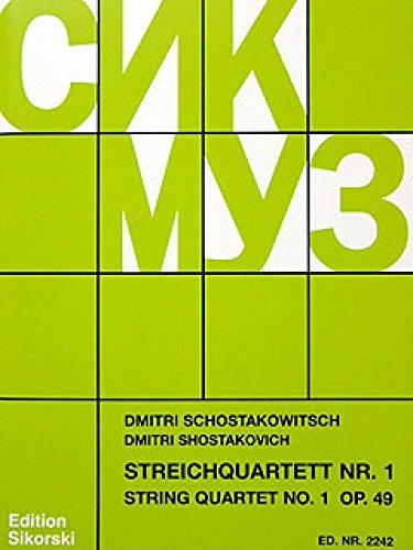 Streichquartett Nr.1 op.49Stimmen: Dimitri Schostakowitsch