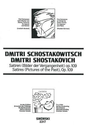 Satiren op.109 : 5 Romanzen fürGesang und Klavier (ru/dt): Dimitri Schostakowitsch