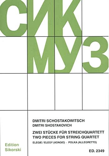 2 Stücke : für StreichquartettPartitur und Stimmen: Dimitri Schostakowitsch