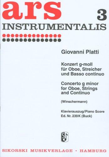 Konzert g-Moll für Oboe undStreichorchester : für Oboe: Giovanni Benedetto Platti