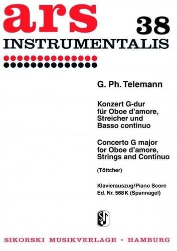 Konzert G-Dur TWV51:G3 : fürOboe d'amore, Streichorchester und Bc: Georg Philipp Telemann