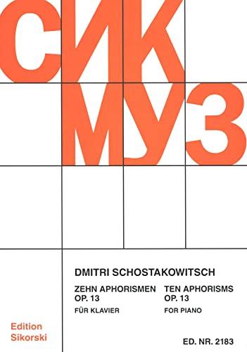 10 Aphorismen op.13 : für Klavier: Dimitri Schostakowitsch